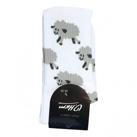 """Шкарпетки білі """"Баранчики"""" О, нет"""