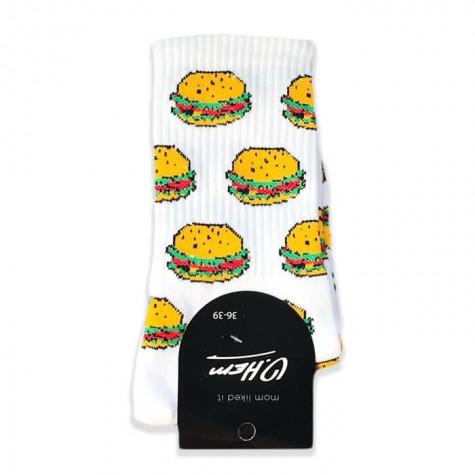 """Шкарпетки білі """"Бургер"""" О, нет"""