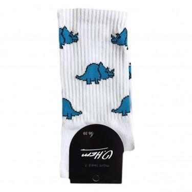 """Шкарпетки білі """"Динозаври сині"""" О, нет"""