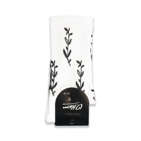 """Шкарпетки білі """"Флора"""" О, нет"""
