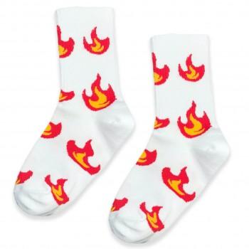 """Шкарпетки білі """"Полум'я"""" О, нет"""