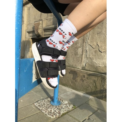 """Шкарпетки білі """"Живу"""" О, нет"""