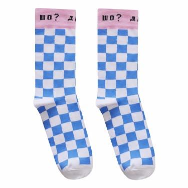"Носки бело-голубые ""Шо? Де? Ага"" О, нет"