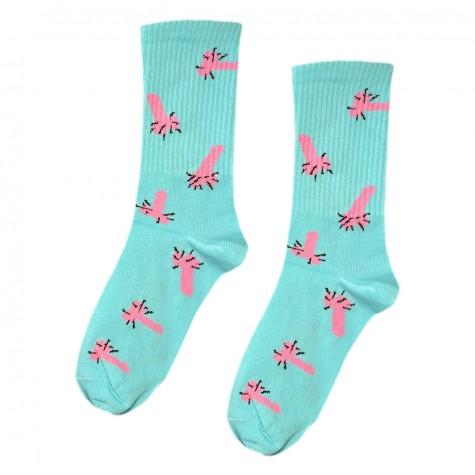 """Шкарпетки бірюзові """"Пісюни"""" О, нет"""