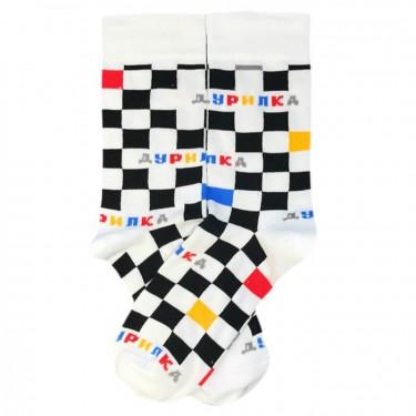 """Шкарпетки чорно-білі """"Дурилка"""" О, нет"""