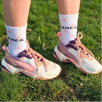 """Шкарпетки білі """"Киса"""" О, нет"""