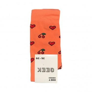 "Носки оранжевые ""Вишня - Сердце"" О, нет"
