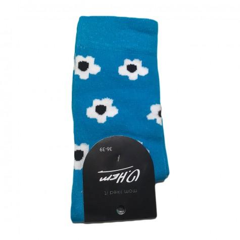 """Шкарпетки сині """"Ромашки"""" О, нет"""