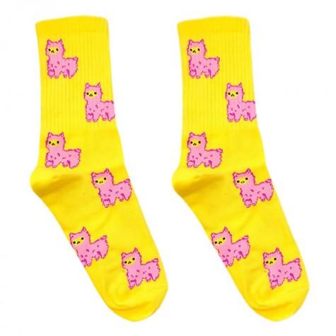 """Шкарпетки жовті """"Альпаки"""" О, нет"""