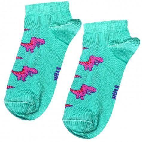 """Шкарпетки бірюзові """"Тиранозавр"""" короткі Socksstar"""