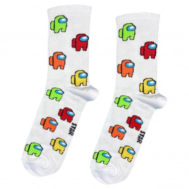 """Шкарпетки білі """"Among Us"""" Socksstar"""