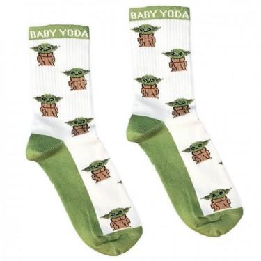 """Носки белые """"Baby Yoda"""" Socksstar"""