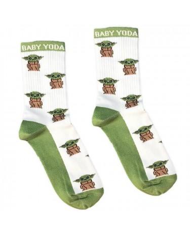 """Шкарпетки білі """"Baby Yoda"""" Socksstar"""