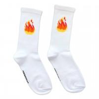"""Шкарпетки білі """"Flame"""" (вогонь) Socksstar"""