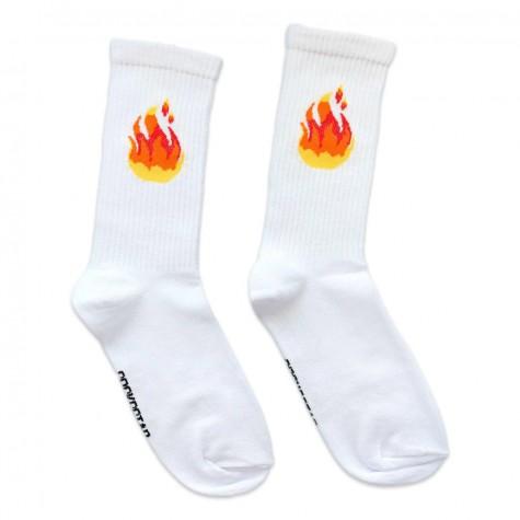 """Носки белые """"Flame"""" (огонь) Socksstar"""
