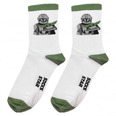 """Шкарпетки білі """"Мандалорець"""" Socksstar"""