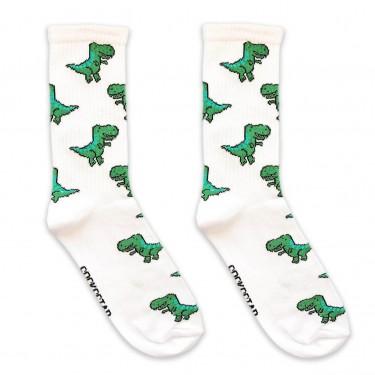 "Носки белые ""Тиранозавр"" Socksstar"