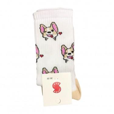 """Шкарпетки білі """"Цуцики Коргі"""" Socksstar"""