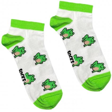 """Шкарпетки білі """"Жабки"""" короткі Socksstar"""