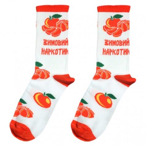 """Шкарпетки білі """"Зимовий наркотик"""" Socksstar"""