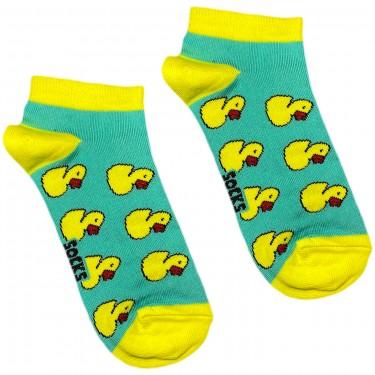"""Шкарпетки блакитні """"Качечки"""" короткі Socksstar"""