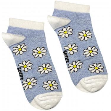"""Шкарпетки блакитні """"Ромашки"""" короткі Socksstar"""