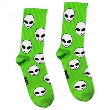 """Шкарпетки зелені """"Прибульці"""" Socksstar"""