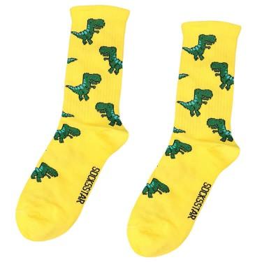 """Шкарпетки жовті """"Тиранозавр"""" Socksstar"""