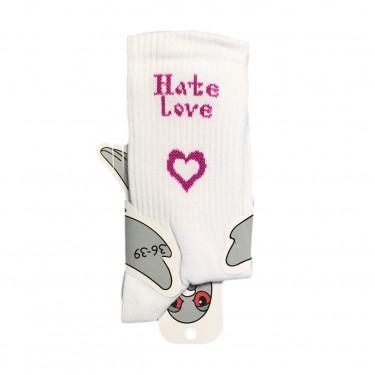 "Шкарпетки білі ""Hate Love"" Soxiky"