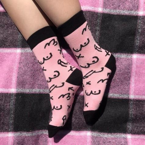 """Шкарпетки рожеві """"Сіся Піся"""" Soxiky"""