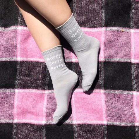 "Шкарпетки сірі ""Sorry"" Soxiky"