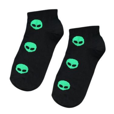 """Носки черные """"Aliens"""" короткие Sunny Focks"""