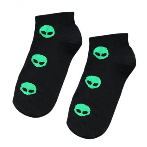 """Шкарпетки чорні """"Aliens"""" короткі Sunny Focks"""
