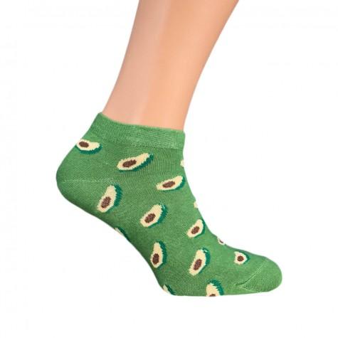 """Шкарпетки зелені """"Авокадо"""" короткі Sunny Focks"""