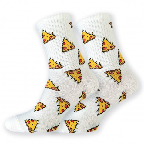 """Шкарпетки білі """"Піцца"""" Sunny Focks"""