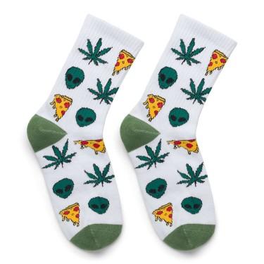 "Шкарпетки білі ""Alien Pizza Weed"" Sunny Focks"