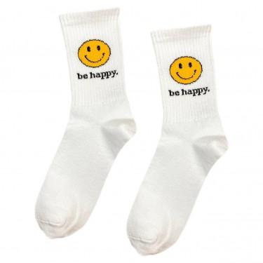 """Шкарпетки білі """"Be Happy Смайл"""" Sunny Focks"""