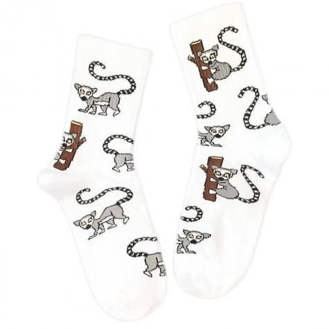 """Шкарпетки білі """"Лемури"""" Sunny Focks"""