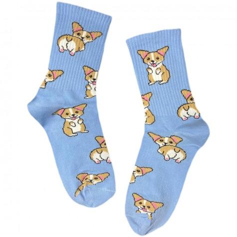 """Шкарпетки блакитні """"Коргі"""" Sunny Focks"""