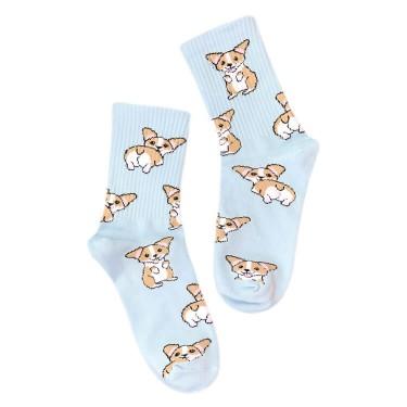 """Шкарпетки світло-блакитні """"Коргі"""" Sunny Focks"""