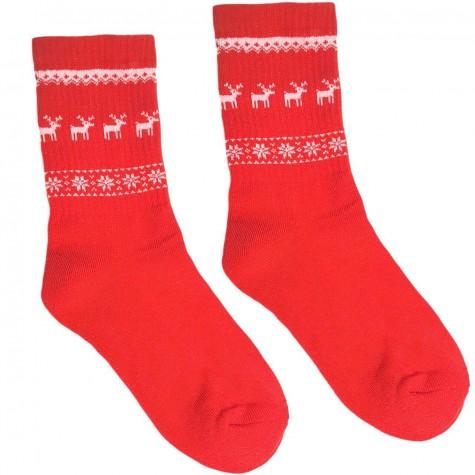 """Шкарпетки червоні теплі """"Олені"""" Sunny Focks"""