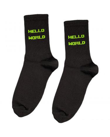 "Шкарпетки чорні ""HELLO WORLD"" Sunny Focks"