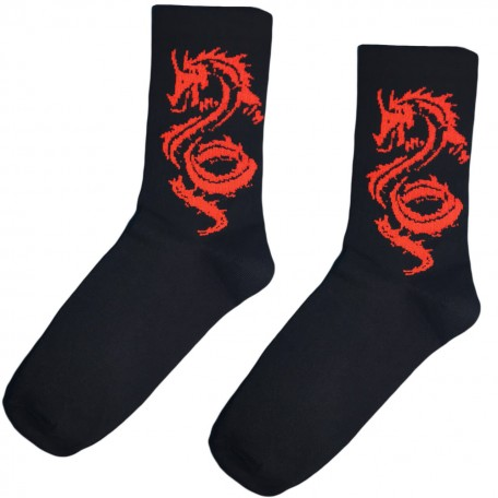 """Шкарпетки чорні """"Red Dragon"""" Sunny Focks"""