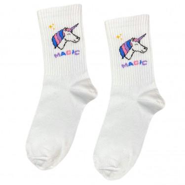 """Шкарпетки білі """"Єдиноріг Magic"""" Sunny Focks"""