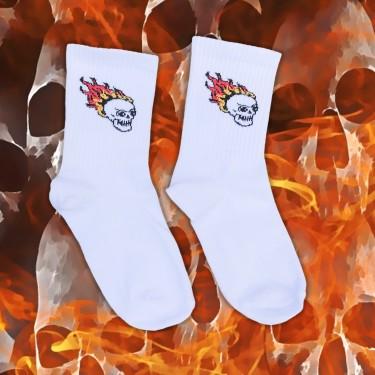 """Шкарпетки білі """"Гарячі голови"""" Sunny Focks"""