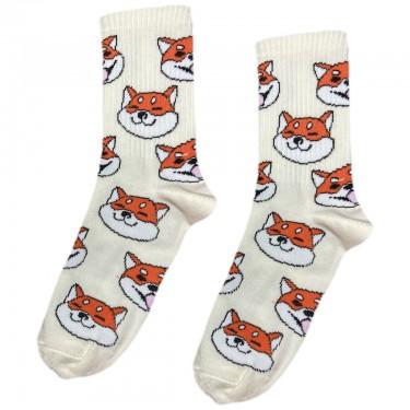 """Шкарпетки молочні """"Шіба-іну (Сіба-іну)"""" Sunny Focks"""