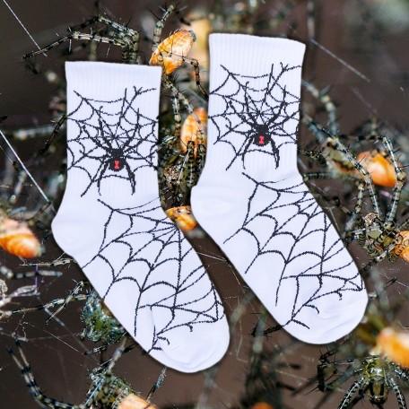 """Шкарпетки білі """"Павуче гніздо"""" Sunny Focks"""