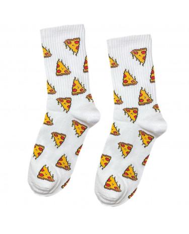 "Носки белые ""Пицца"" Sunny Focks"