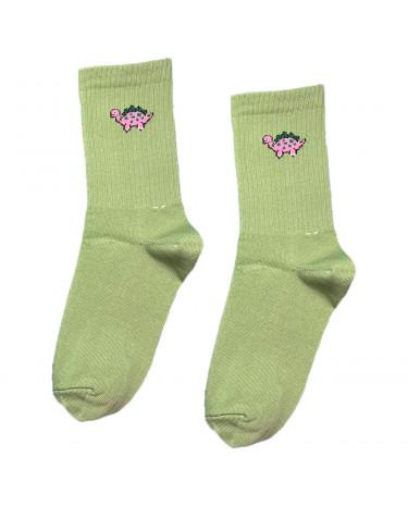 """Шкарпетки зелені """"Динозаврик - стегозавр"""" Sunny Focks"""