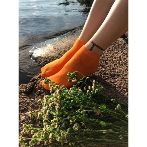 Шкарпетки помаранчеві базові короткі Sunny Focks